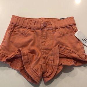 NWT pink ruffle shorts